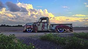 Air Ride Patina Truck, Bagged,