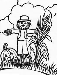 Scarecrow Coloring Pages Kids