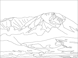 Mountain Coloring Sheet Pages For Kids And Adults Within