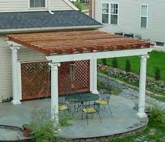 Patio or Deck Pergola with Tuscan Column Design 20 x 16 Plans