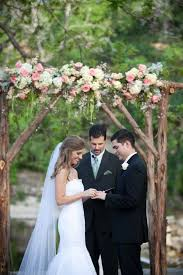 I Totally Love The Flowers On Wood Arch Way Thing Rustic Texas Hill Country Wedding Via Lockhart Anne Designs
