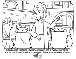 Kids Coloring Page From Whats In The Bible Showing Paul Preaching Volume 11