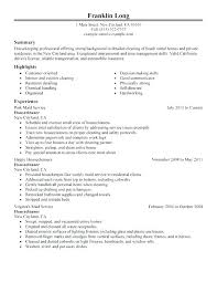 Cleaning Resume Examples