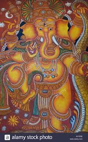 Famous Kerala Mural Artists by Lord Ganesh Painted In Kerala Style Mural Art Painting South India