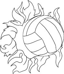 Volleyball Coloring Pages Blocking A Serve Printable