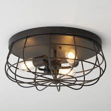 Industrial Cage Ceiling Light In 2019 Lights Low Ceiling