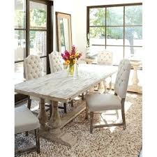 Dining Room Distressed Chairs Table In White Wash For Set Plans 6 Extra Tall Outdoor Bar
