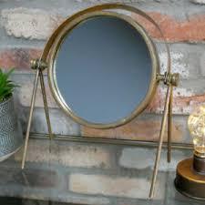 details zu rund gold metall eitelkeit spiegel klein metallisch badezimmer make up tisch top