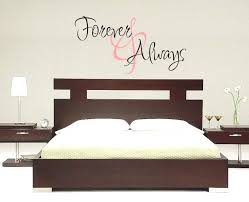 Couple Bedroom Wall Decor Amazing Forever Always Decals For