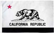 Black White California State Flag 3x5 Ft Republic Red Star Bear BW