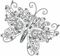 Butterfly Coloring Pages For Kids Cute