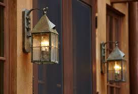 story tudor style exterior lighting project brass light gallery