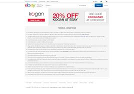 Kogan - 20% Off Ebay Store | TopBargains Coupon Code Really Good Stuff Free Shipping Mlb Tv Coupons 2018 The Business Of Display Part 7 Making Money With Coupons Adbeat Stercity Promo Codes Ebay Coupon 50 Off Turbotax Premier Dell Laptop Cyber Monday Deals 2016 How To Get Discount Today Sony A99 Auto Parts Warehouse Codes Dna 11 Bjs Book January Nume Canada Drugstore 10 India Promo April Working Code Home Facebook