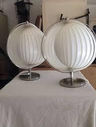 Cedric Hartman Lamp Ebay by Mid Century Robert Sonneman Chrome Ball And Lucite Swivel Table