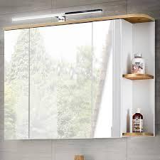 badezimmer spiegelschrank mit led cos 56 weiß mit wotaneiche b x