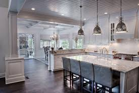 lighted coffered ceiling kitchen traditional with open kitchen
