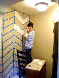 Diy Project Lauries Herringbone Wall Design DesignSponge