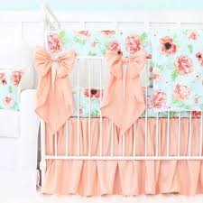 Coral And Navy Baby Bedding by Pastel Crib Bedding Soft Color Baby Bedding Caden Lane