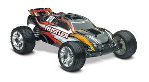 Rustler 1/10 Stadium Truck Black, RTR W/iD Battery & 4 - TRA37054-1 ...