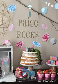 Cake Decoration Ideas With Gems by Rock Climbing Gem Party Life Is A Party