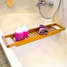 badewannenablage aus bambus mit gitter hbt 4 x 64 x 15 cm wannenbrücke zur ablage seife oder schwamm badewannenauflage aus hochwertigem holz