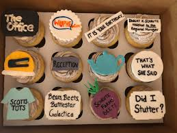 My Girlfriend Made Some Office Themed Cupcakes