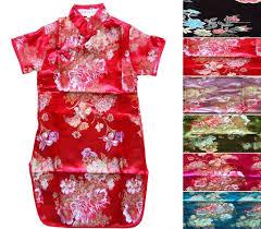 gorgeous chinese japanese oriental childrens girls evening dress 1