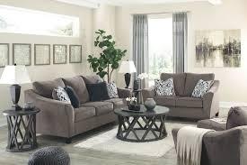 100 2 Sofa Living Room Nemoli Slate Loveseat Chair And A Half Ottoman Sharzane Cocktail Table End Tables