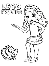 Lego Friends Coloring Pages 9