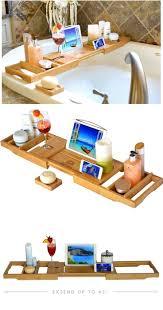 Bath Caddy With Reading Rack by Bathroom Charming Taymor Bathtub Caddy Canada 3 Wooden Bathtub
