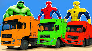 GARBAGE TRUCKS With SPIDERMAN COLORS Cartoon For Childrens ... Tow Truck Song Vehicles Car Rhymes For Kids And Childrens Assembly Lightning Mcqueen Color Nursery Fire Chick Monster Trucks Mcqueen Mater Destroy Police Cars Fun Spiderman Little Red Monster Songs Rig A Jig Mack For Children Learn Colors And Stunts Tricks Captain America Ironman Crazy Plastic Ball Abc Twinkle Star Rhyme Busta Rapper Looking Built Like A Mac Truck The Wheels On Garbage Original Vehicle Driving Truck In Video