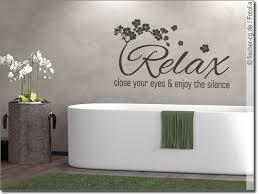 wandtattoo relax text mit kirschblüten für badezimmer