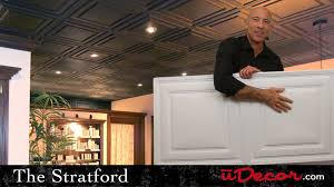 Ceilume Stratford Ceiling Tiles by Stratford 2x4 Ceiling Tiles Youtube