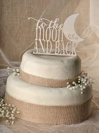 Just Married Cake Topper Vintage Bruidstaart T