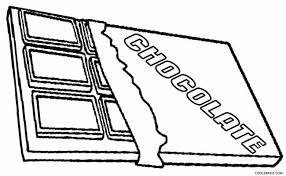 Chocolate Candy Bar Coloring Page