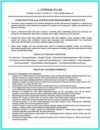 Construction Project Manager Resume Examples Simple Superintendent Example To Get Of