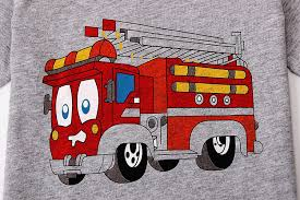 Amazon.com: Kids Fire Truck Pajamas Sets: Clothing