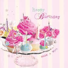 Cupcake Happy Birthday Card Birdsong