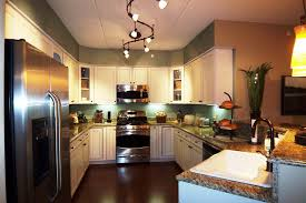 brushed nickel track lighting kitchen suitable kitchen lighting
