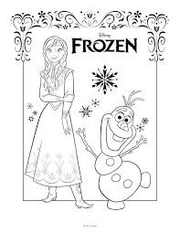 Frozen Anna And Olaf Coloring Sheet Search Results Fun