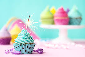 Download Cupcake with sparkler stock photo Image of candle space