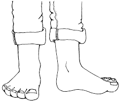 Feet Clipart Black And White