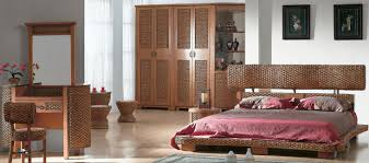 Magnificent Bedroom Decoration With Indoor Rattan Furniture Casual Image Of Design Ideas