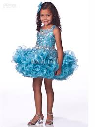 stoned bodice unique fashion short pageant dress for girls uf1102