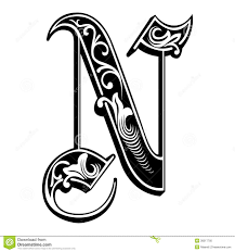 Garnished Gothic Style Font Letter N Download From Over 36