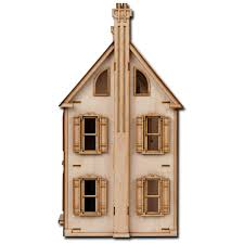 DIY Large Wooden Kids Doll House Toy Kit Girls Play Dollhouse