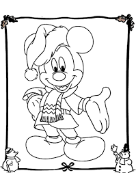 Mickey Mouse Coloring Page For Christmas Within Pages
