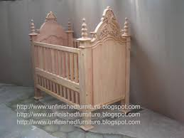 Bratt Decor Crib Hardware by Unfinished Mahogany Furniture Victorian Crib Baby Bed Made