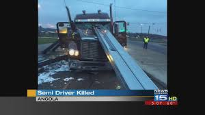 Truck Driver Killed After Load Comes Loose - YouTube