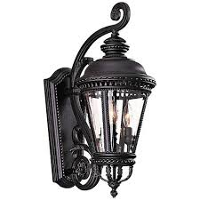 castle collection 22 1 2 high outdoor wall light by feiss